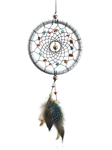 Handmade Feathers Stones Dreamcatcher Craft Gift - multicolor