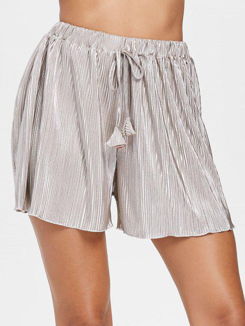 Scalloped Mini Pleated Shorts - Long Summer Shorts
