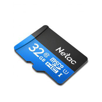 Netac P500 High Speed Micro SDHC Flash Memory SD Card 32GB - BLUE