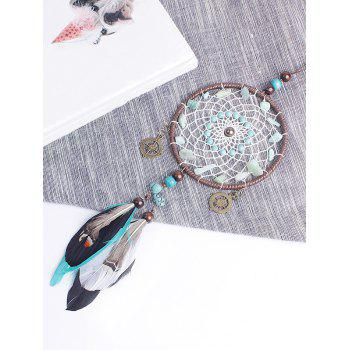 Handmade Beads Feathers Dreamcatcher Hanging Craft - multicolor