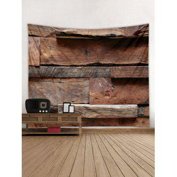 Original Wooden Grain Print Wall Decor Tapestry - BURLYWOOD W91 INCH * L71 INCH