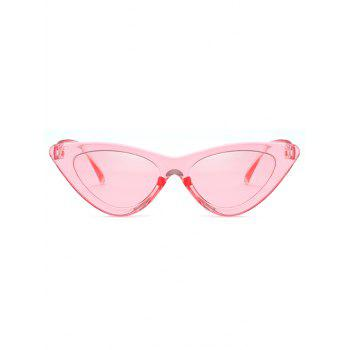 Vintage Full Frame Flat Lens Catty Sunglasses - PINK