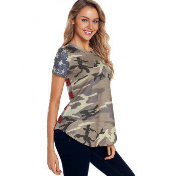 American Flag Camouflage T-shirt - multicolor M