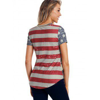 American Flag Camouflage T-shirt - multicolor L