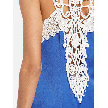Back Applique Sleeveless Shift Dress - BLUE 2XL