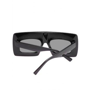 Anti UV Wide Frame Flat Lens Sunglasses - BLACK