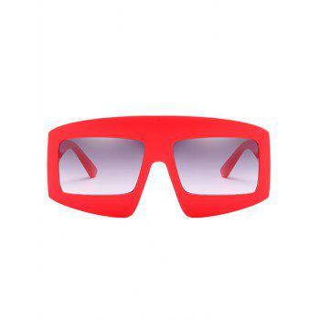 UV Protection Wide Frame Driving Sunglasses - RED