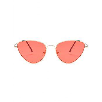 Stylish Metal Full Frame Driving Travel Sunglasses - WATERMELON PINK