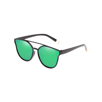 Outdoor Top Bar Flat Lens Sun Shades Sunglasses - YELLOW GREEN