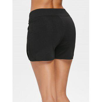 Skinny Shorts with Grommets - BLACK L