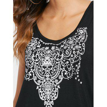 Arab Printed Tank Top - BLACK 2XL
