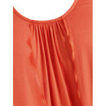 Hollow Out Crochet Racerback Tank Top - ORANGE 2XL