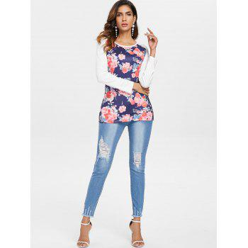 Floral Tee - WHITE S
