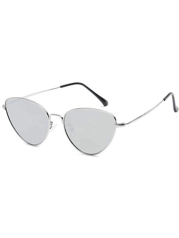 Stylish Metal Full Frame Driving Travel Sunglasses - PLATINUM