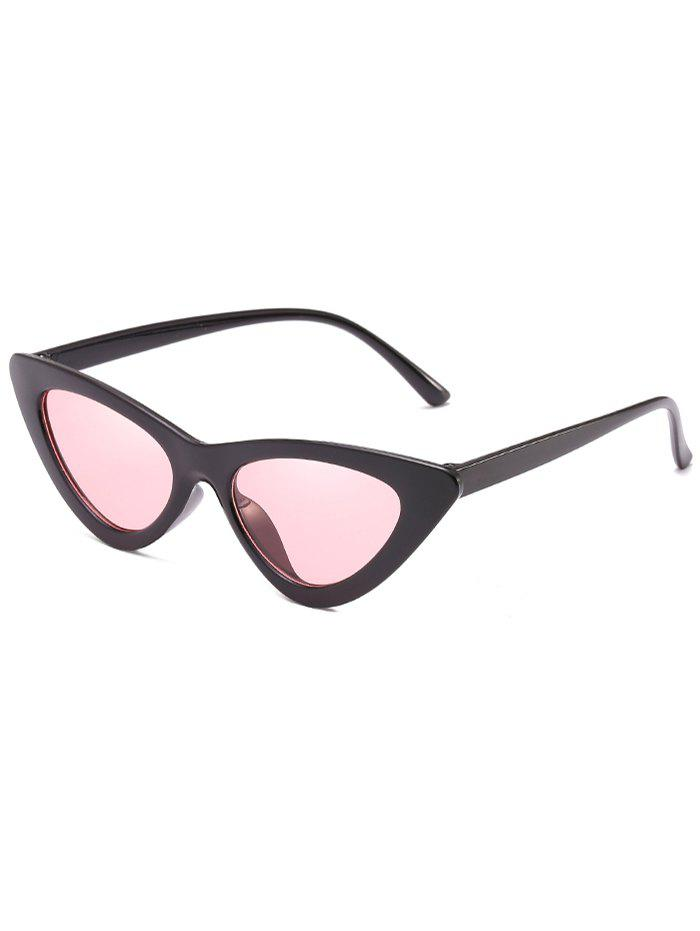 Vintage Full Frame Flat Lens Catty Sunglasses - PIG PINK