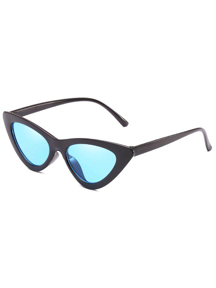 Vintage Full Frame Flat Lens Catty Sunglasses - DEEP SKY BLUE