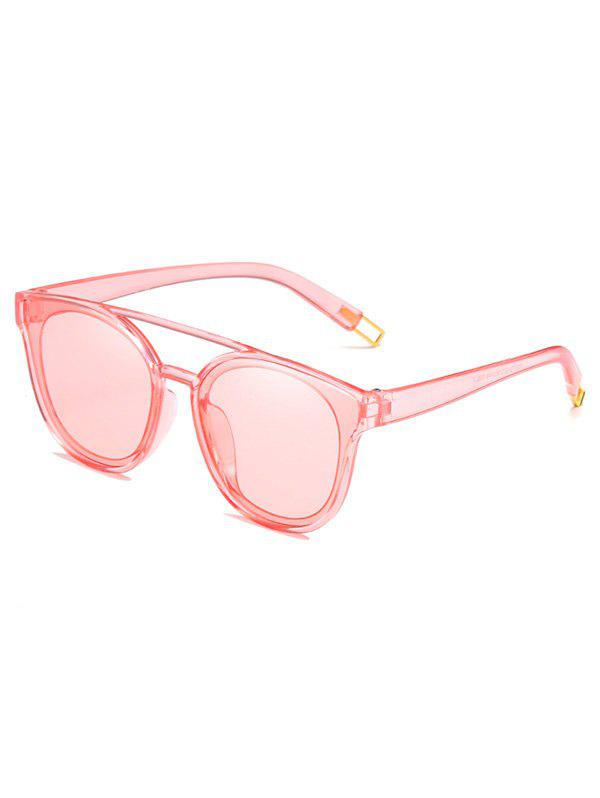 Outdoor Top Bar Flat Lens Sun Shades Sunglasses - PIG PINK
