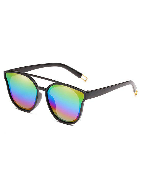 Outdoor Top Bar Flat Lens Sun Shades Sunglasses - YELLOW
