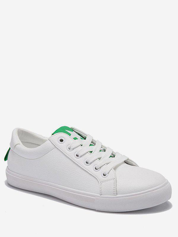 Low Heel Lightweight Contrasting Color Skate Shoes - GREEN 39