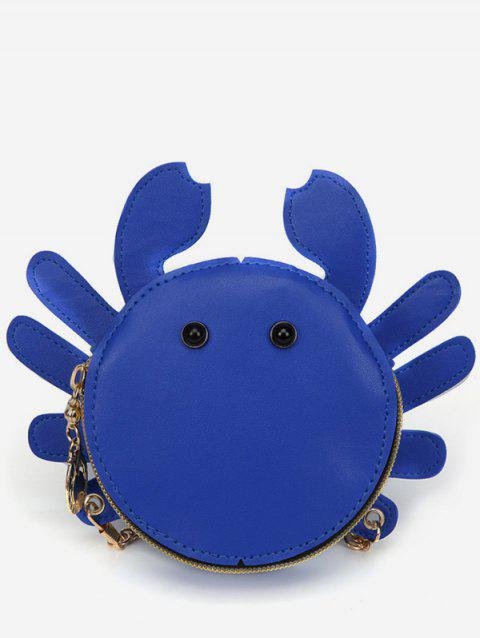 Critters Pattern Chic PU Leather Sling Bag - BLUE