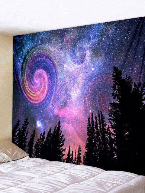 Galaxy Forest Print Tapestry Wall Art - multicolor W91 INCH * L71 INCH