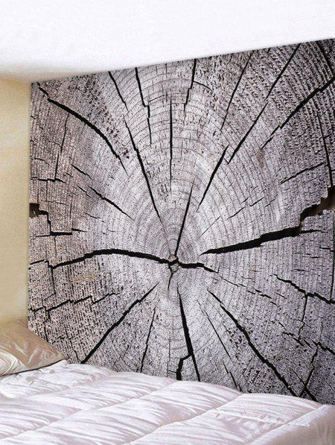 Tree Growth Ring Print Tapestry Wall Art - GRAY CLOUD W79 INCH * L59 INCH