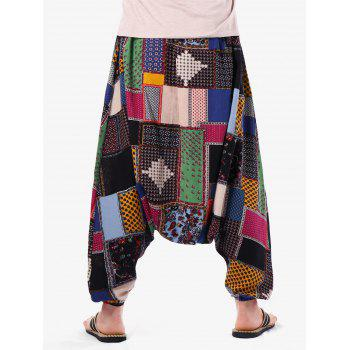Casual Tribal Geometric Print Harem Pants - multicolor ONE SIZE