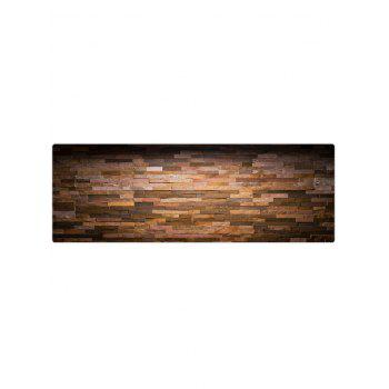 Vintage Brick Wall Printed Flannel Floor Rug - multicolor W24 INCH * L71 INCH