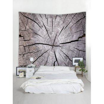 Tree Growth Ring Print Tapestry Wall Art - GRAY CLOUD W79 INCH * L71 INCH