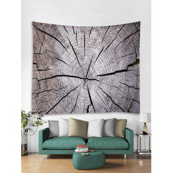 Tree Growth Ring Print Tapestry Wall Art - GRAY CLOUD W71 INCH * L71 INCH