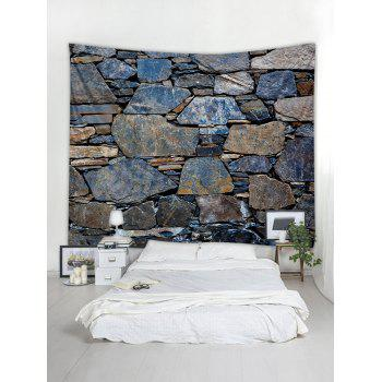 Stones Wall Print Tapestry Wall Art Decor - multicolor W91 INCH * L71 INCH