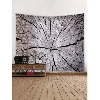 Tree Growth Ring Print Tapestry Wall Art - GRAY CLOUD W91 INCH * L71 INCH
