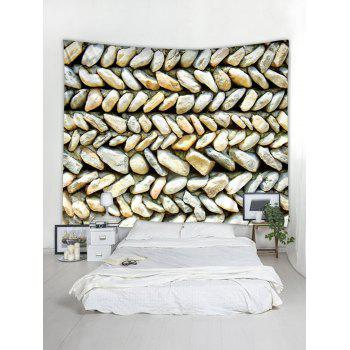 Stones Wall Pattern Tapestry Wall Art - multicolor W79 INCH * L71 INCH