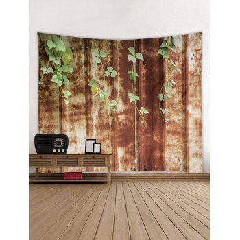 Vine Leaf Print Tapestry Wall Art - multicolor W71 INCH * L71 INCH