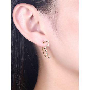 Pair of Irregular Star Party Drop Earrings - CHAMPAGNE GOLD