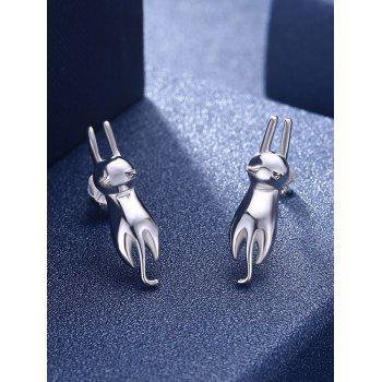 Unique Jumping Cat Party Earrings - SILVER