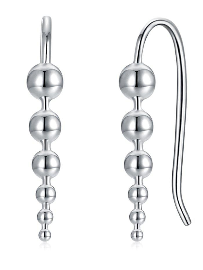 Silver Balls Decorative Pendant Earrings - SILVER