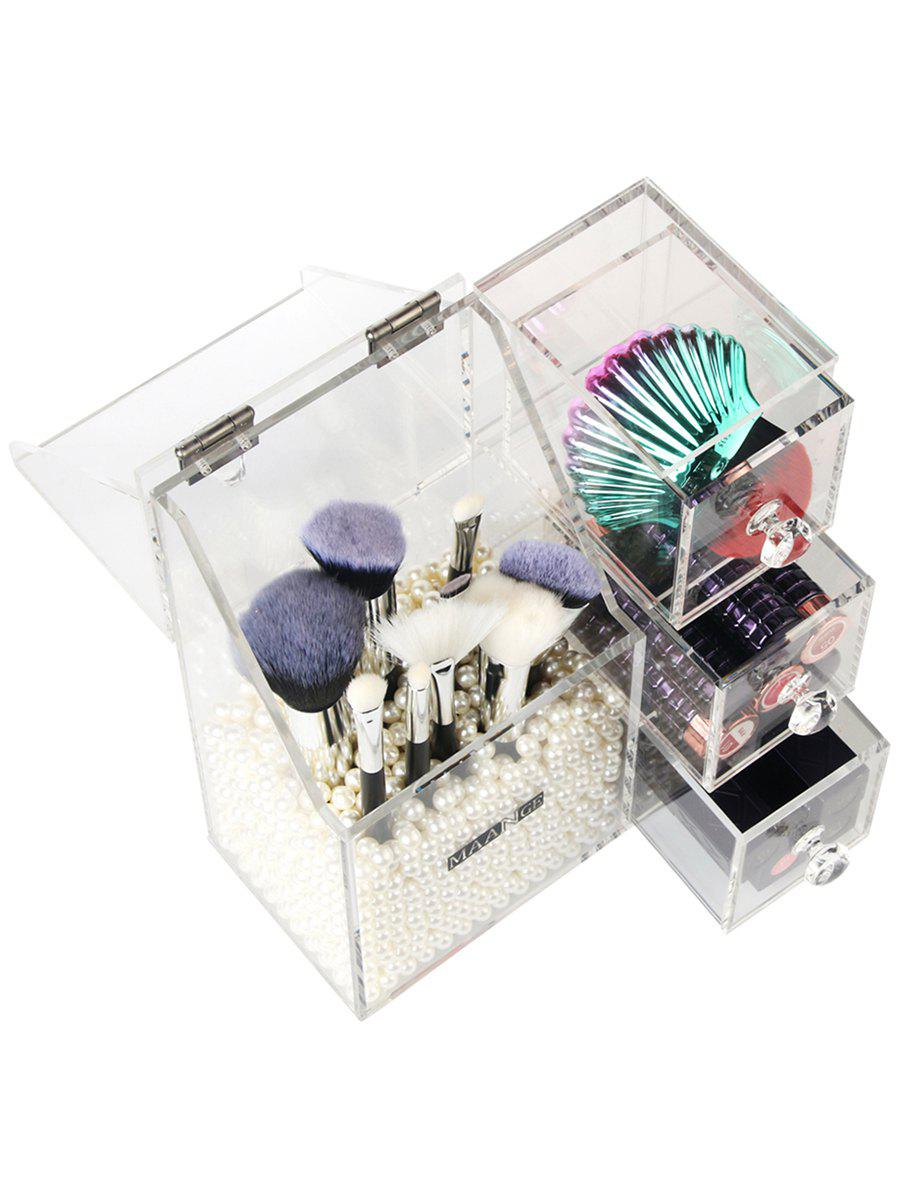 All in One Makeup Tools Acrylic Organizer Storage Box - TRANSPARENT
