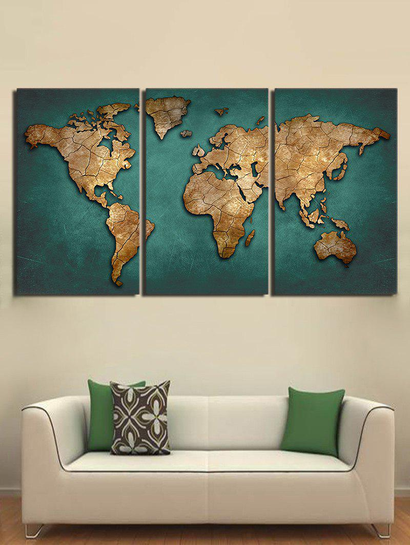 2018 world map pattern unframed canvas paintings multicolor pc inch world map pattern unframed canvas paintings multicolor 3pc1218 inch no gumiabroncs Images