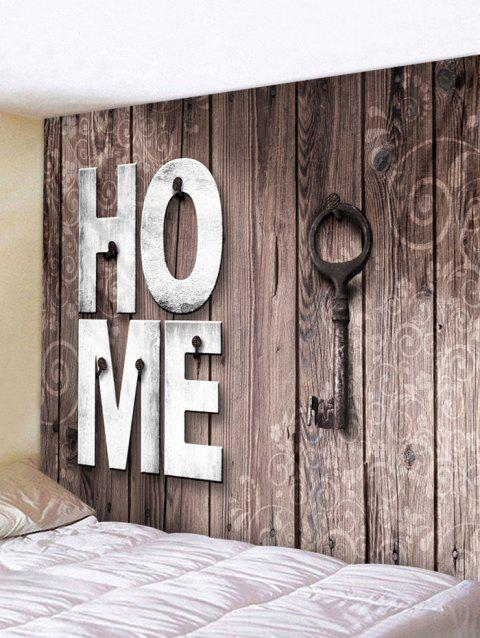 Home Wooden Key Pattern Tapestry Decoration - CAMEL BROWN W79 INCH * L71 INCH