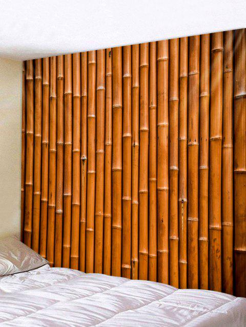 Bamboo Pattern Tapestry Decoration - LIGHT BROWN W79 INCH * L71 INCH