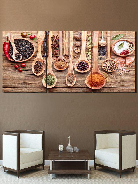 Flavoring Print Unframed Canvas Paintings - multicolor 3PC:16*24INCH(NO FRAME)