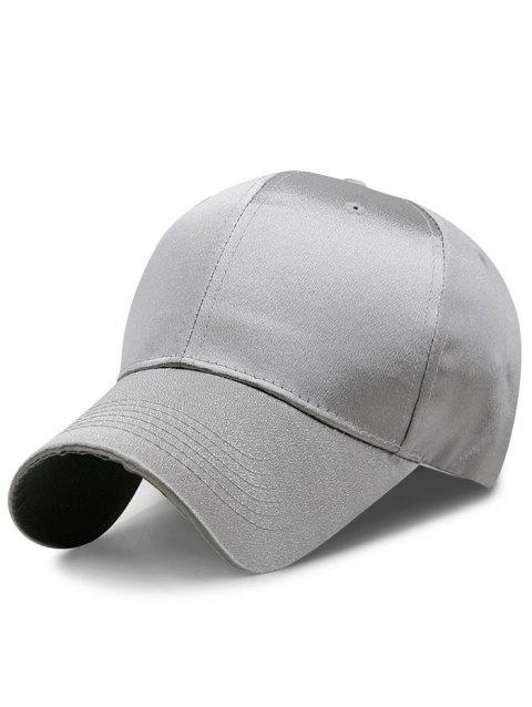 Solid Color Shimmer Shine Graphic Hat - LIGHT GRAY