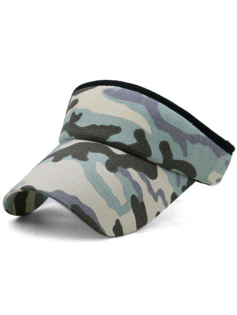 Camouflage Printed Open Top Sport Hat - multicolor B