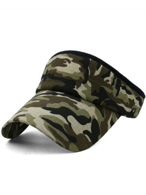Camouflage Printed Open Top Sport Hat - multicolor F