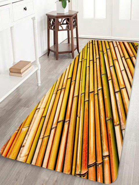 Rows of Bamboo Print Non Slip Floor Rug - WOOD W24 INCH * L71 INCH
