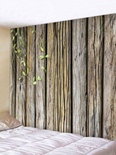 Green Vine Wood Grain Print Wall Hanging Art Tapestry - DARK GRAY W59 INCH * L51 INCH