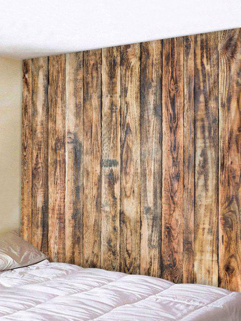 Vintage Vertical Wood Board Print Wall Hanging Tapestry - WOOD W79 INCH * L59 INCH