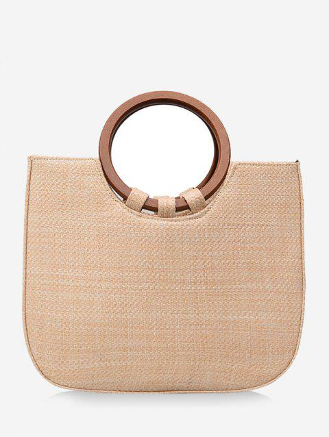 Minimalist Leisure Holiday Straw Tote Bag - BEIGE