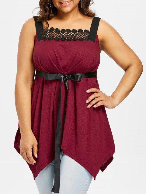 77b97b3896e LIMITED OFFER  2019 Plus Size Square Neck Handkerchief Tank Top In ...